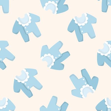 ropa de beb�: La ropa del beb�, patr�n transparente Vectores