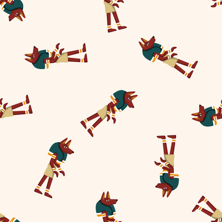 pharaoh: pharaoh ,seamless pattern Illustration