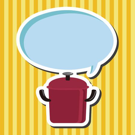 stew pot: kitchenware pot theme elements vector,eps
