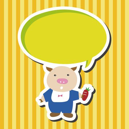3 little pigs: Three Little Pigs theme elements Illustration