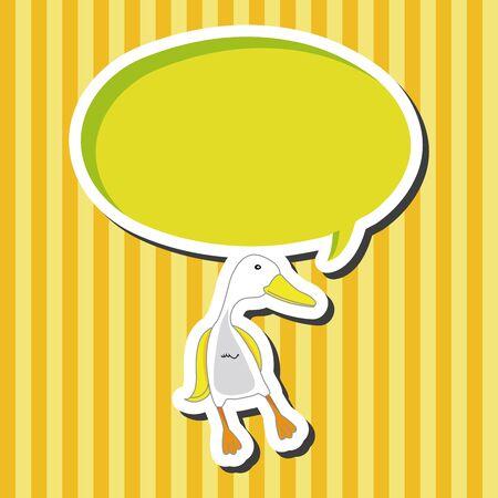 pato caricatura: Elementos del tema de dibujos animados pato animales