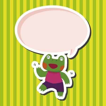grenouille: �l�ments de th�me de bande dessin�e de grenouille animales