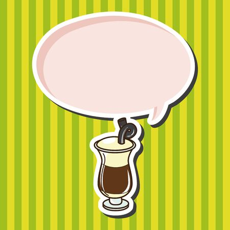iced: iced drink theme elements vector