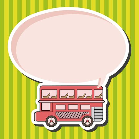 british culture: Double-decker bus theme elements vector
