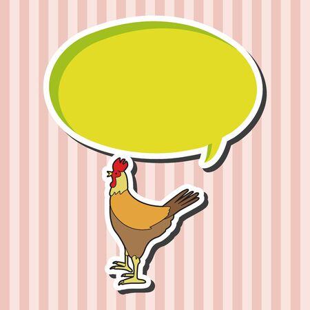 animal cock: animal cock cartoon theme elements