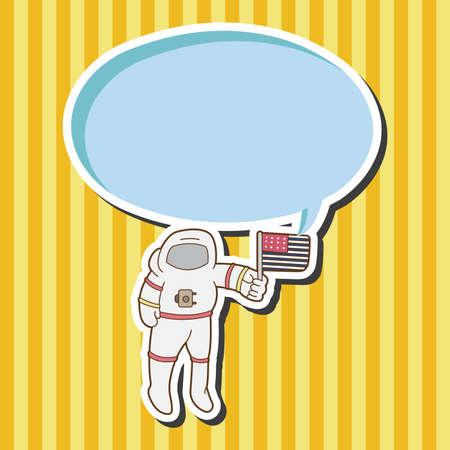 테마: Space Astronaut theme elements vector