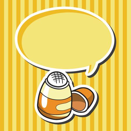glue: stationary glue theme elements vector Illustration