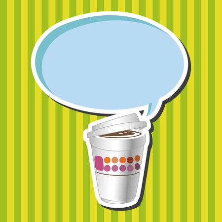takeaway: takeaway coffee theme elements vector