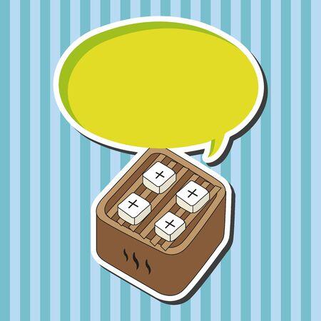 tofu: japanese food theme tofu elements vector Illustration