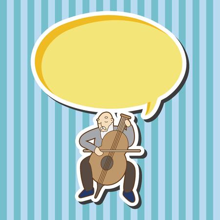 musicians: Musicians theme elements vector Illustration
