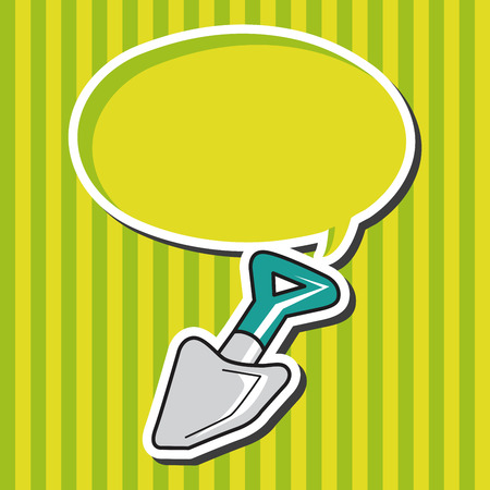 work tool: work tool shovel theme elements vector Illustration