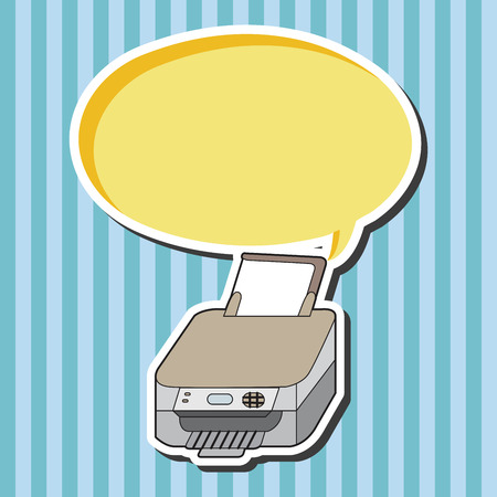 equipment: Computer-related equipment printer theme elements Illustration