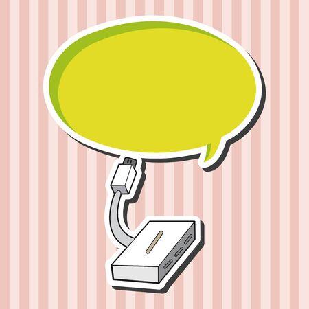 equipment: Computer-related equipment usb theme elements Illustration
