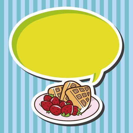 pancake: pancake theme elements vector Illustration