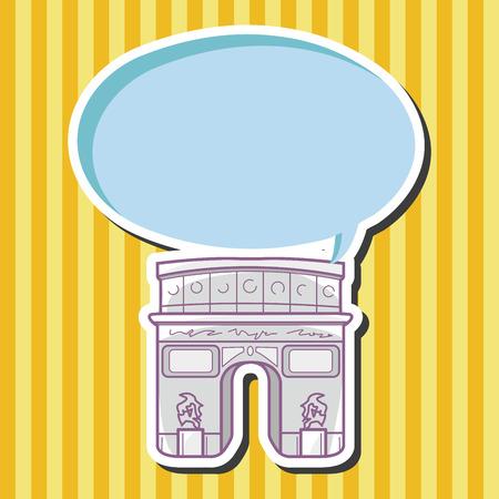 triumphal: Triumphal arch theme elements vector Illustration