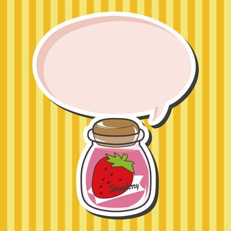 strawberry jam: strawberry jam theme elements vector Illustration