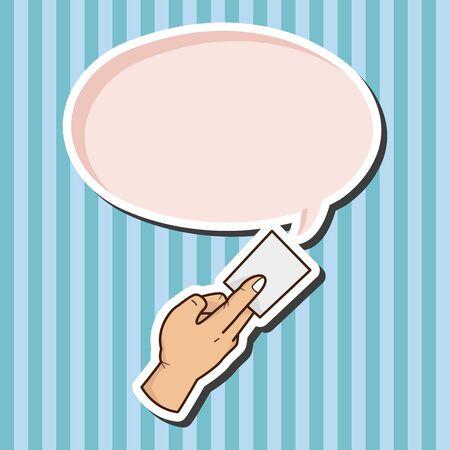 hand holding paper: mano che tiene la carta elementi del tema vettore