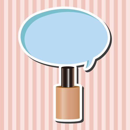 foundation: cosmetics foundation theme elements vector