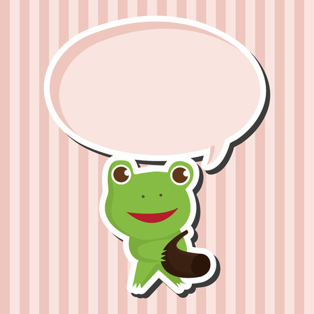 playing instrument: animal frog playing instrument cartoon theme elements