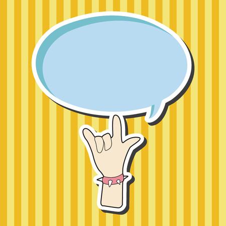 hand gesture: rock music hand gesture theme elements vector