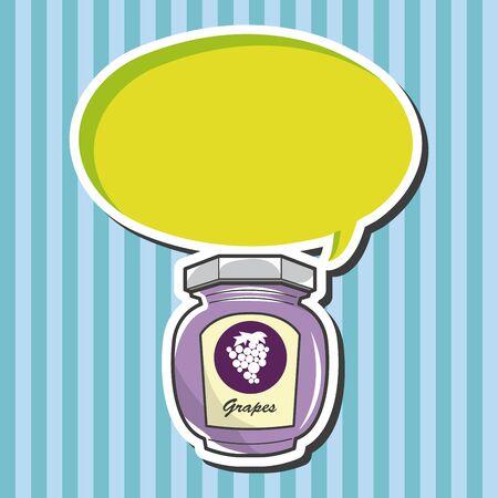marmalade: grape jam theme elements vector Illustration
