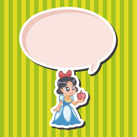 snow queen: fairytale princess theme elements Illustration