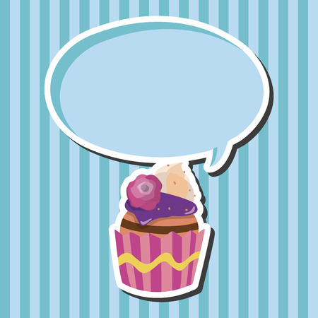 decorating: decorating cake theme elements vector Illustration