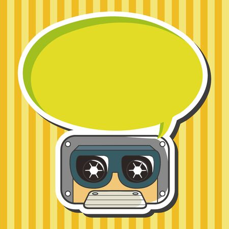 audiotape: Audiotape theme elements vector Illustration