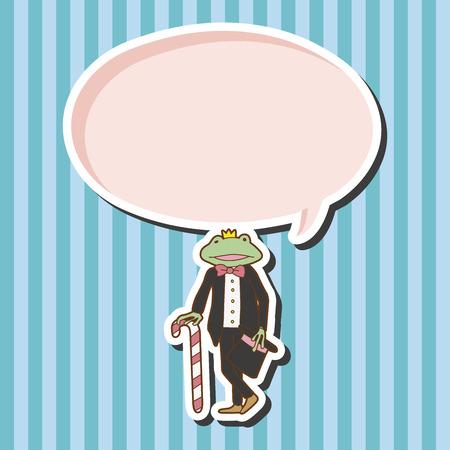 rana principe: Elementos del tema de Príncipe de la rana Vectores