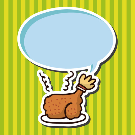 binge: fast food freid chicken flat icon elements,eps10 Illustration