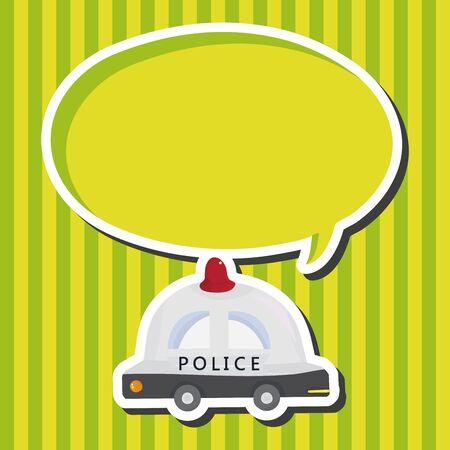 politieauto: transportation police car theme elements