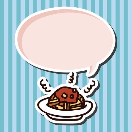 comida rápida: espaguetis de comida r�pida icono elementos planos
