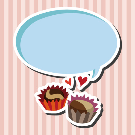 heart gift box: Valentines Day chocolate flat icon elements backgtound,eps10 Illustration