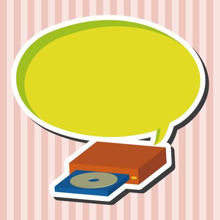 cd case: computer theme CD elements vector