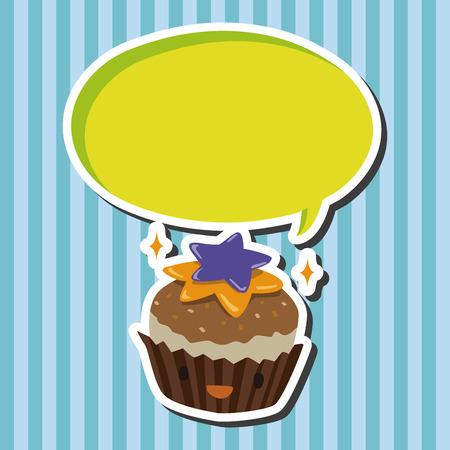 decorating: decorating cake flat icon elements  Illustration