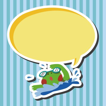zoo amphibian: sport animal frog cartoon elements