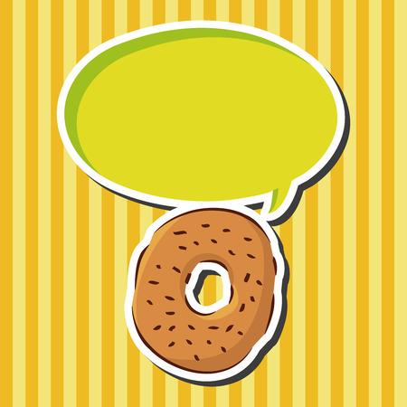 binge: fast food donut flat icon elements