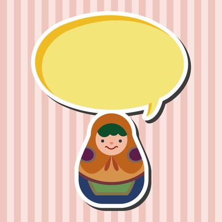 wooden doll: Matryoshka , Russian traditional wooden doll