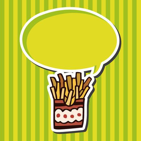 binge: fast food french fries flat icon elements,eps10 Illustration