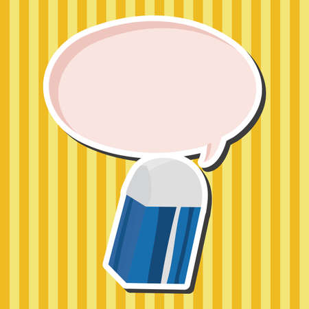 eraser: stationary eraser theme elements  Illustration