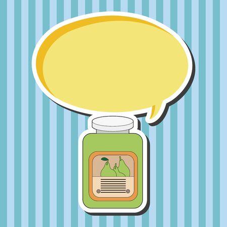 fruit jam: fruit jam theme elements  Illustration