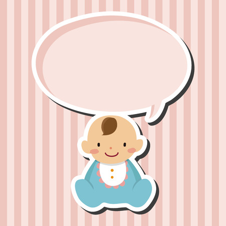 family baby: family baby character flat icon elements