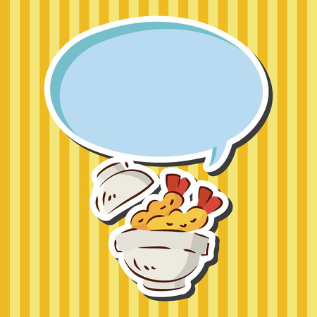 fried shrimp: fast food fried shrimp flat icon elements Illustration