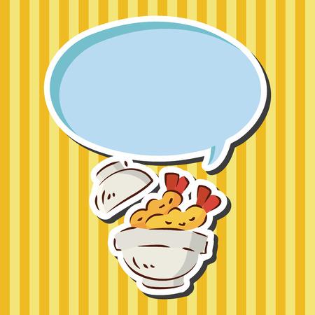 fried shrimp: fast food fried shrimp flat icon elements Illustration