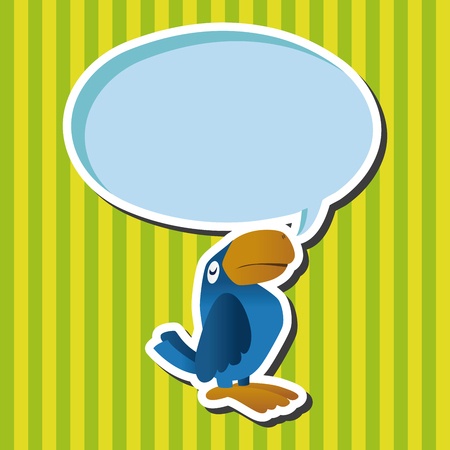 parrot tail: Animal parrot flat icon elements