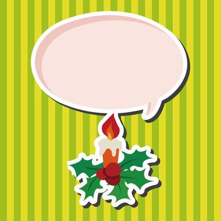 christmas candle: Christmas candle flat icon elements background