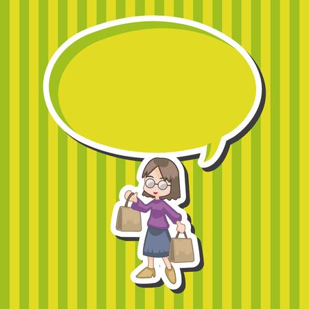 supermarket shopper: shopper theme elements