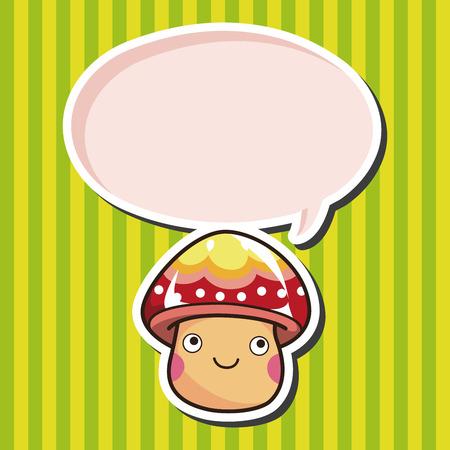 mushroom: mushroom cartoon theme elements