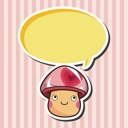 mushroom cartoon: mushroom cartoon theme elements Illustration