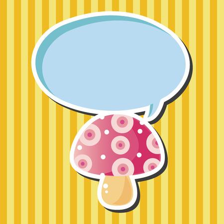 mushroom cartoon: mushroom cartoon theme elements